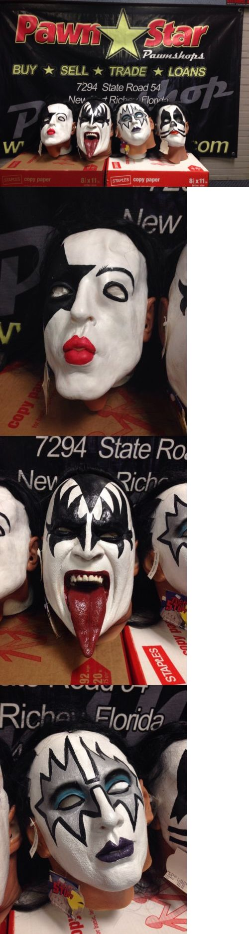 Music 175691: Vintage Kiss Mask Set Gene Simmons,Paul,Peter ,Ace 1997 Spencer Gifts -> BUY IT NOW ONLY: $499.99 on eBay!