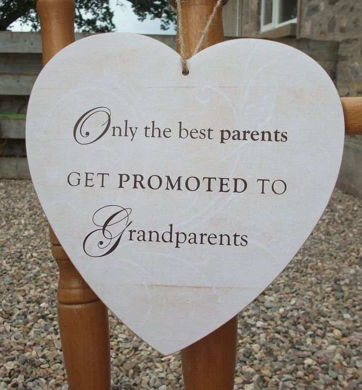Best parents promoted to Grandparents, heart - HANDMADE plaque, gift, bespoke