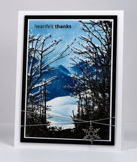 Woodland Wonder is another gorgeous stamp from the new Penny Black release. It is lovely to use in a winter scene but, like 'Etched Branches' in my last post, I will be using all year I'm sure. I u...