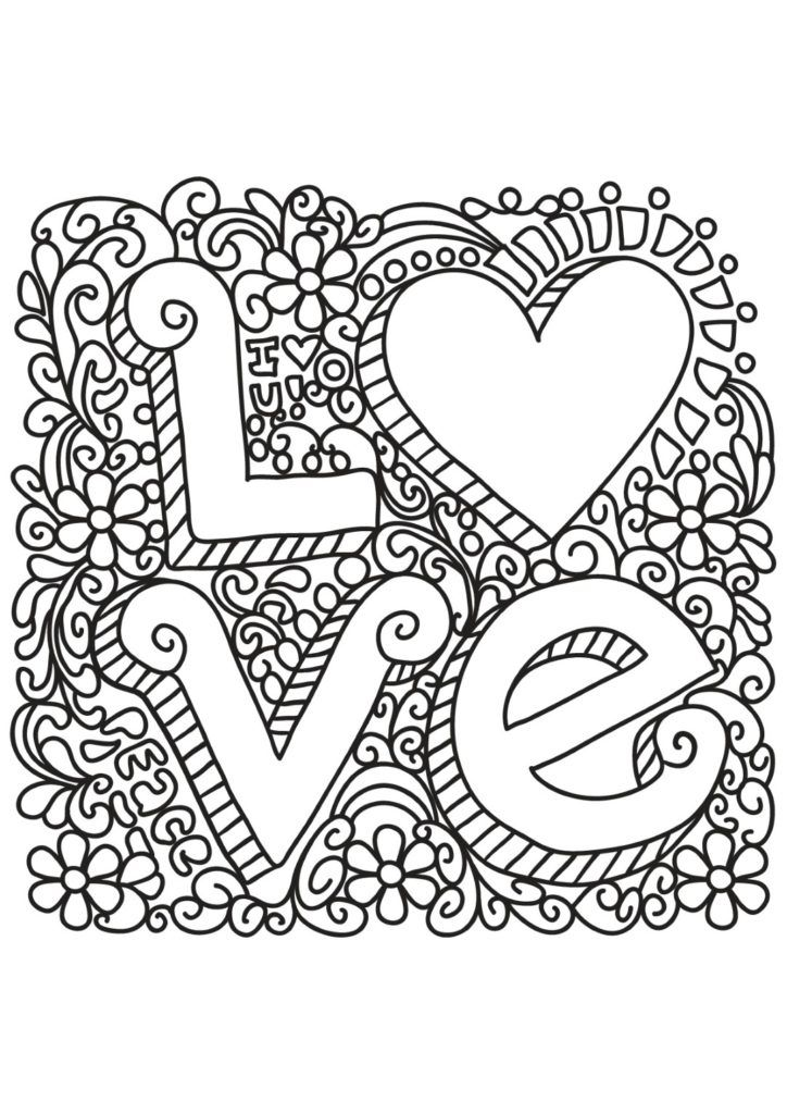 Coloring Rocks Love Coloring Pages Quote Coloring Pages Mandala Coloring Pages