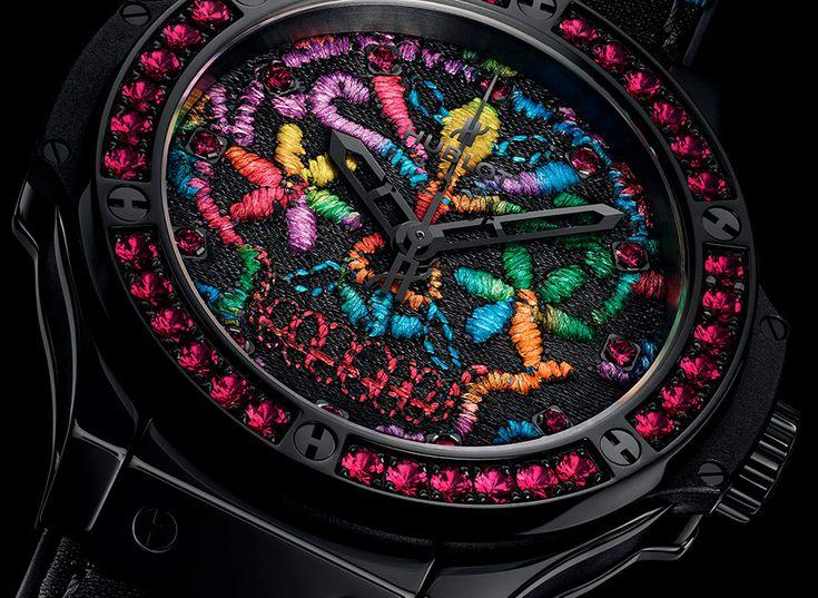 Роскошные часы Hublot с вышивкой