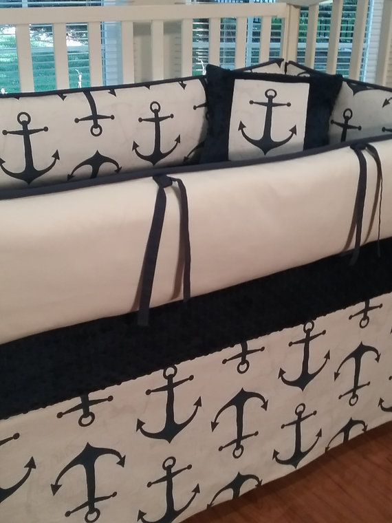 Hey, I found this really awesome Etsy listing at https://www.etsy.com/listing/237498826/baby-bedding-anchor-navy-crib-skirt