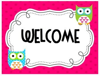 FREE A welcome sign to add to your classroom door, parent packet, or meeting! ...
