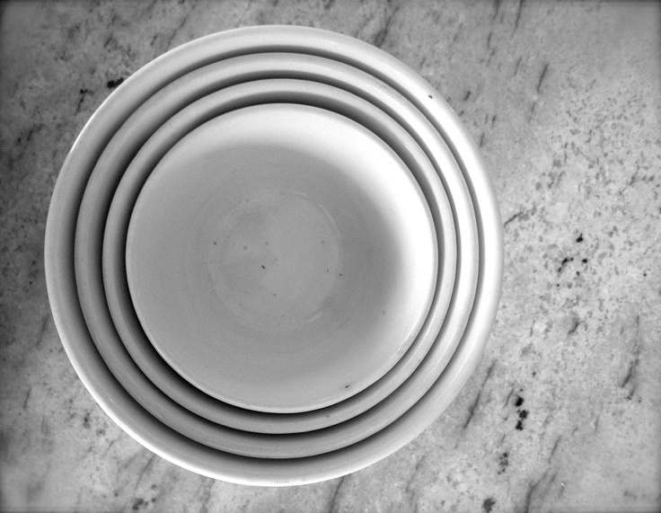 set of nesting ironstone bowls - found at local thrift store - 2 dollars! -