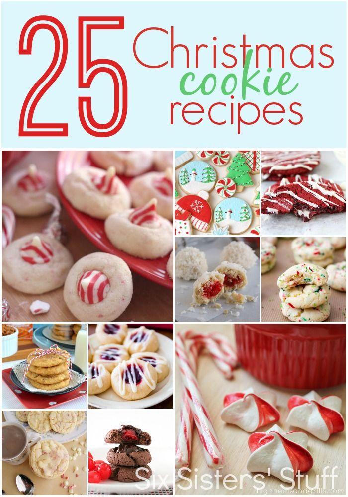25 Delicious Christmas Cookies from SixSistersStuff.com.  25 of the BEST Christmas cookie recipes in one place! #sixsistersstuff