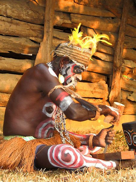 Asmat people. West Papua, Indonesia