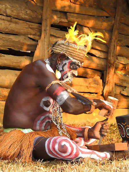 Asmat people, West Papua.