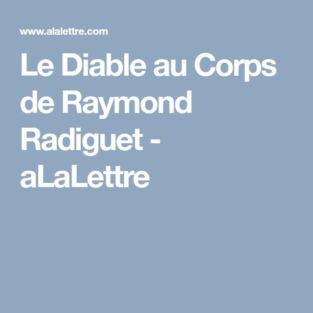 Le Diable au Corps de Raymond Radiguet - aLaLettre