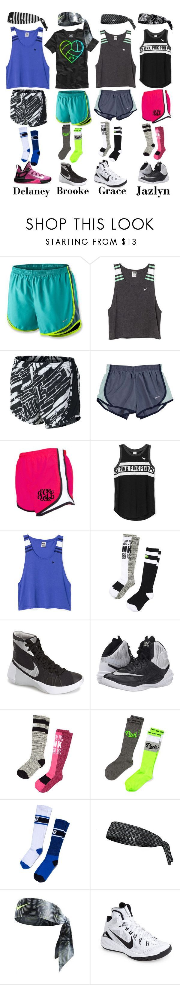 """Basketball Practice with my Favs"" by jmsmith462 ❤ liked on Polyvore featuring NIKE and Victoria's Secret PINK"