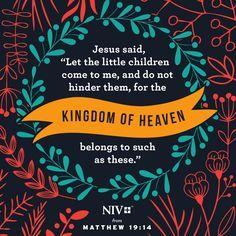 NIV Verse of the Day: Matthew 19:14