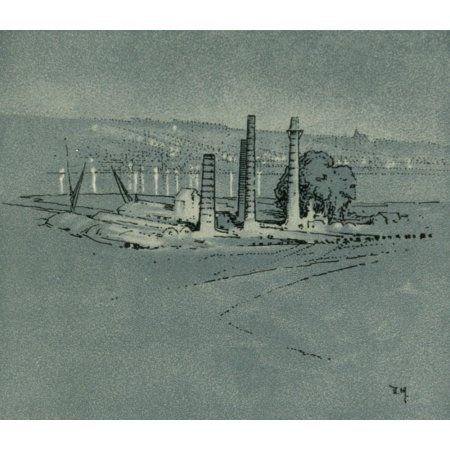 Unknown Kent 1922 Cement works at Borstal Canvas Art - Donald Maxwell (18 x 24)