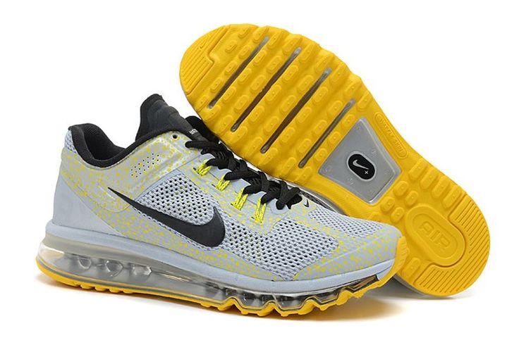 Nike Air Max 2013 CAMO Männer Schuhe Lichtgrau Gelb