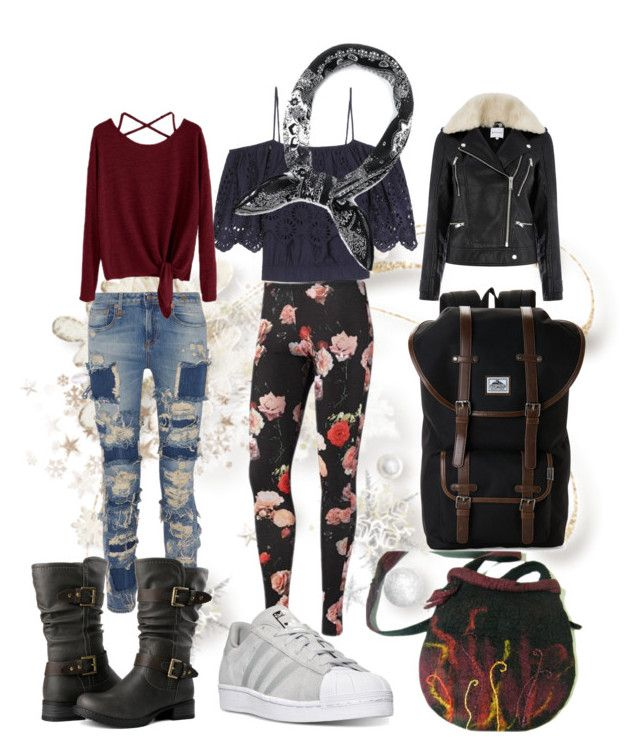 """""""Random"""" by cre8tivegirlz87 ❤ liked on Polyvore featuring Ganni, adidas, Warehouse, R13 and Steve Madden"""