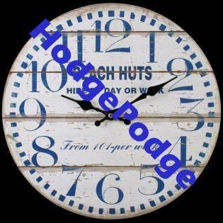 Beach Huts clock, tick tock!