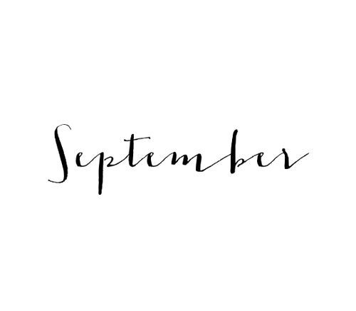 September rhymes with school!