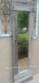 dollar store mirror get a rustic elegant makeover, repurposing upcycling, rustic furniture