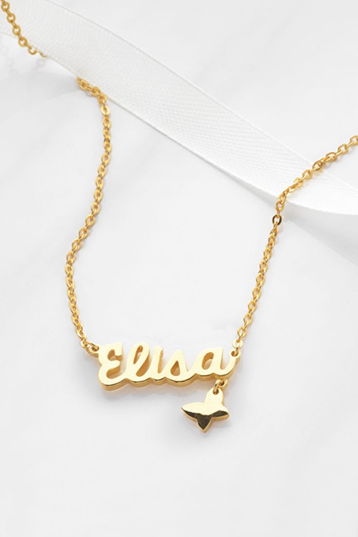 Necklace with name, Custom name jewelry, Child name necklace, Sweet 16 gift, Personal necklace