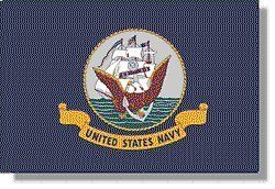 4x6' US Navy Nylon Flag by All Star Flags. $54.00. Durable 200 denier outdoor nylon flag fabric, canvas header, brass grommets. Measures 4' x 6'. Made in the USA. US Navy Flag with Digitally dyed emblem. 4x6' US Navy Flag recommended for a 25' flagpole. Our 4x6' Navy flags are fully dyed for great outdoor performance. Four rows of stitching on the fly end make our Navy Flags durable in all conditions. Navy Flags are finished with a canvas header and two brass grommets. All our N...