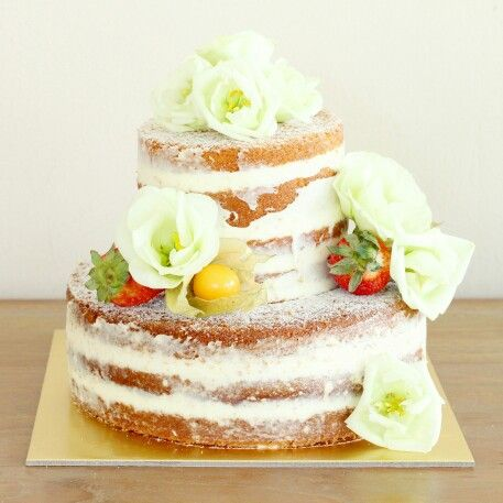 Named wedding cake #nakedcake #rusticcakes