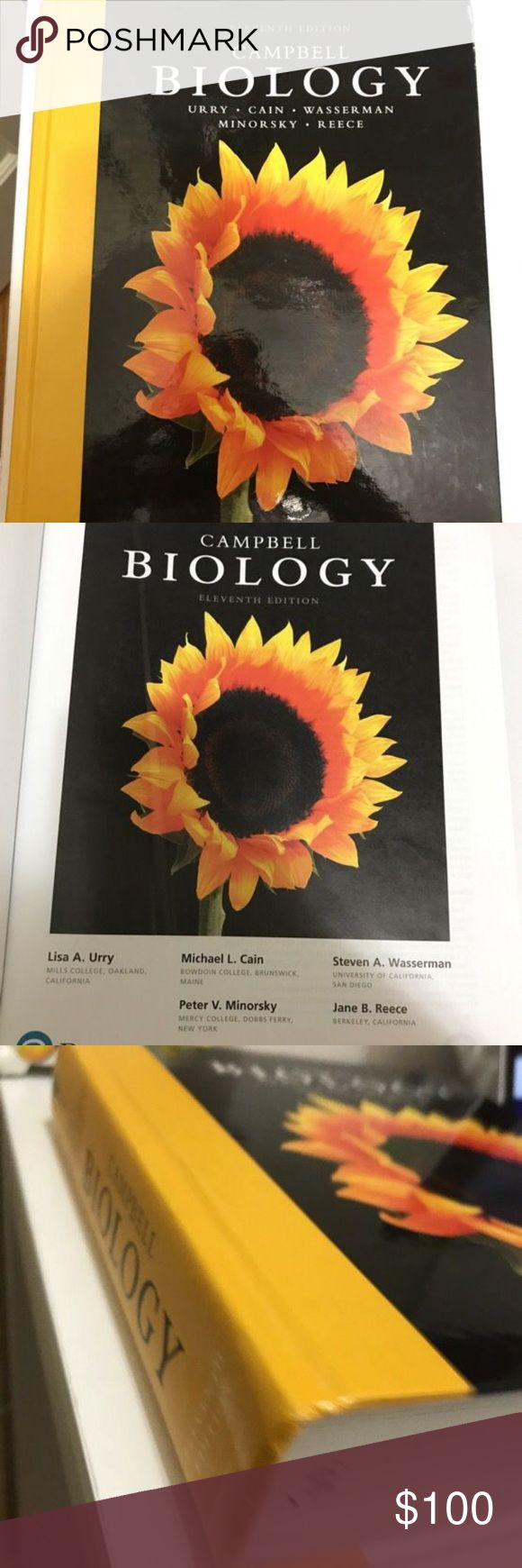 Biology college textbook Campbell biology textbook eleventh edition. Suitable for all biology classes at the college level. Most university requires this science book you won't find this book for sale for under 100$ even on amazon . So I am firm on the price. I have multiple college text books for sale like organic chemistry and genetics and other medical terminology books for medical school students Other