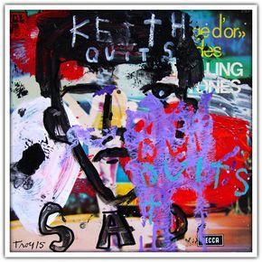 """KEITH QUITS THE BAND, 2015. 31x31 cm. [33 tours """"L'âge d'or des Rolling Stones. Vol. 4"""" de 1973] Galerie W - Galerie d'Art contemporain à Paris #galeriew #gallery #w #galleryw #troyhenriksen @galeriew #rollingstones #brianjones #mickjagger #ianstewart #keithrichards"""