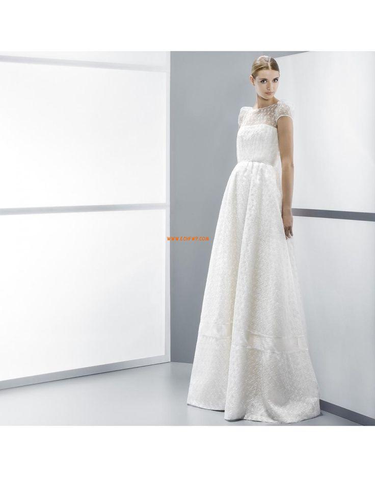 A-line Balayage / pinceau train Broderie Robes de mariée pas cher