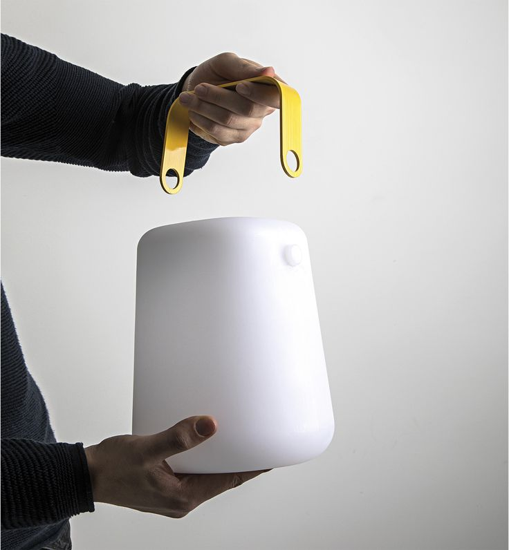 LED RGB polyethylene table lamp TAKE AWAY SOUND By Rossini