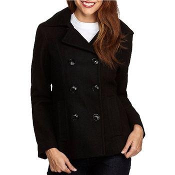 Calvin Klein Women's Black Hooded Pea Coat. SHOP IT NOW