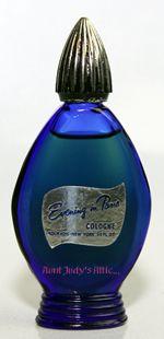 VINTAGE EVENING IN PARIS COLOGNE    A lovelyfull Evening in Paris cologne in the traditional cobalt blue bottle
