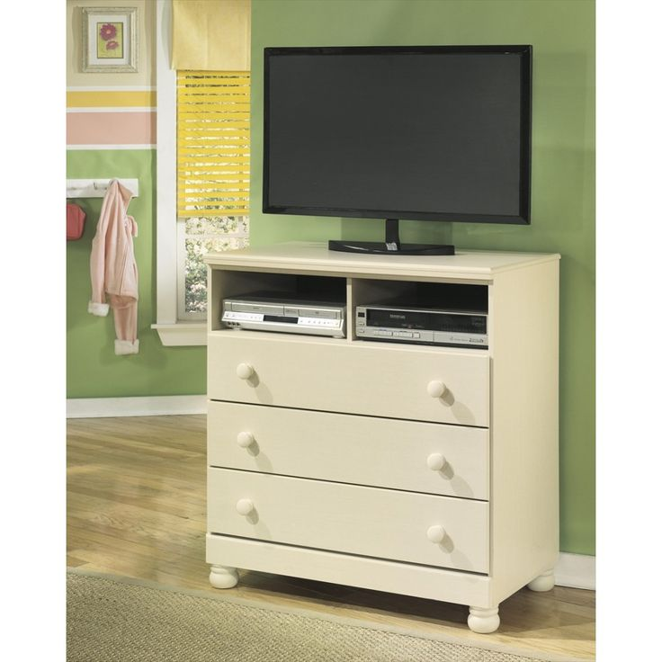 Ashley Furniture Cottage Retreat Media Chest in Cream Cottage
