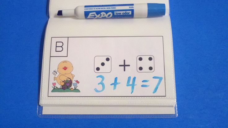 Put cards in a dollar store photo album and use dry erase markers to make Write-On/Wipe-Off activity.