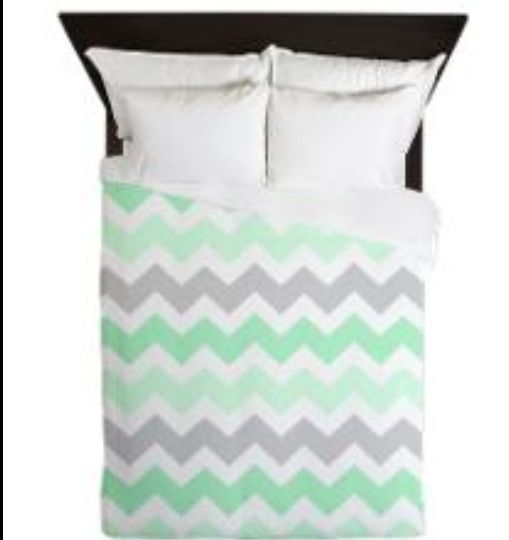 Mint Green Chevron Bedding