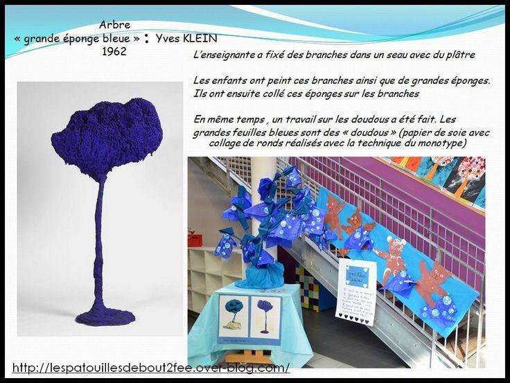L'arbre bleu de Yves KLEIN