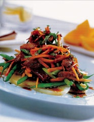 Stoomoven: Kip stoofschotel met sojasaus, honing en appelsien