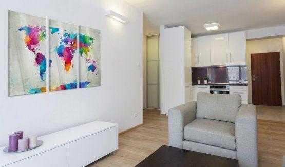 Skleněný obraz - World Map: An Explosion of Colours #canvas #prints #obraz #decor #inspirace #home #barvy #pictureframes #map