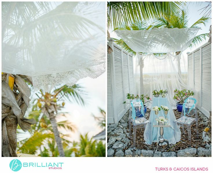 Coco Caribe Romantic Styled Wedding, Styling: Stacie Steensland // Dresses: Luella's Boudoir // Venue: Point Grace // Flowers: Environmental Arts // Paper goods: Artcadia // Grooms Attire: Mr Tux +1 649 941 8660 // Make-up: Ann at Beauty and The Beach // Chairs: Got U Covered // Hair: Geraldine at Maximes Salon Phone: +1-649-946-5093 // Cigar rollers: Cuban Crafters // Bride model: Vielka Salvador // Groom model: Thorn Capron // Cake: Diane Guess – Cakes To Di For