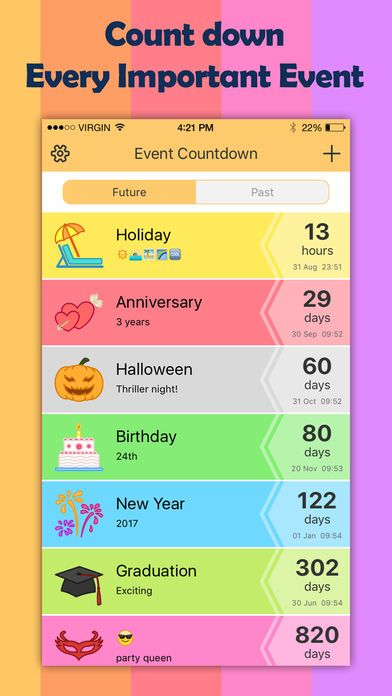 Event Countdown - Planner and Calendar App for Anniversary Events on the App Store