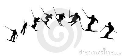 Mia- this one shows skiing movement, the man tookoff then down gradually, the movement is very fast, but was made by lots of movements. as he tookoff in the air, so he down to the earth. it is a short but simple idea, it shows the whole movement, and it is intact.