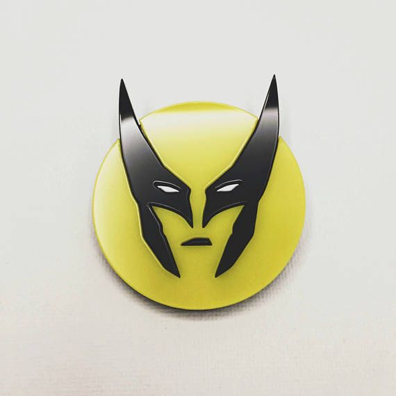Wolverine superhero acrylic pin brooch Logan Marvel comics