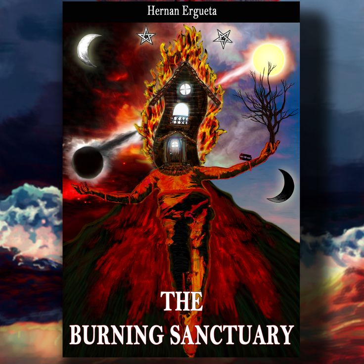 National bookstore: The burning sanctuary by Hernn Ergueta #hernanergueta #ilustracion #ebook