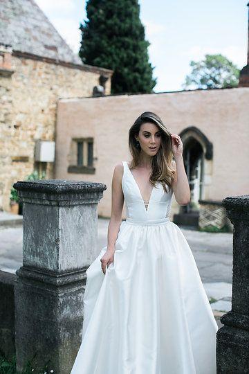 Montsalvat photoshoot by Karen Willis Holmes. Pictured the 'Shelly/Melanie' BESPOKE wedding gown. Follow us - @KWHBridal | Photography - @beksmithjournal . #karenwillisholmes #bridetobe #laceweddingdress #modernwedding #beksmith