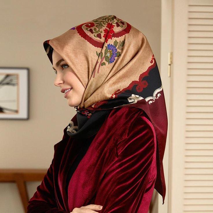 Armine Ascot Turkish Silk Scarf at www.hijabplanet.com - free shipping worldwide  #hijab #scarf #hijabers #fashionista #fashionstyle #hijabhigh #hijabchic #foulard #silkscarf #hijabi