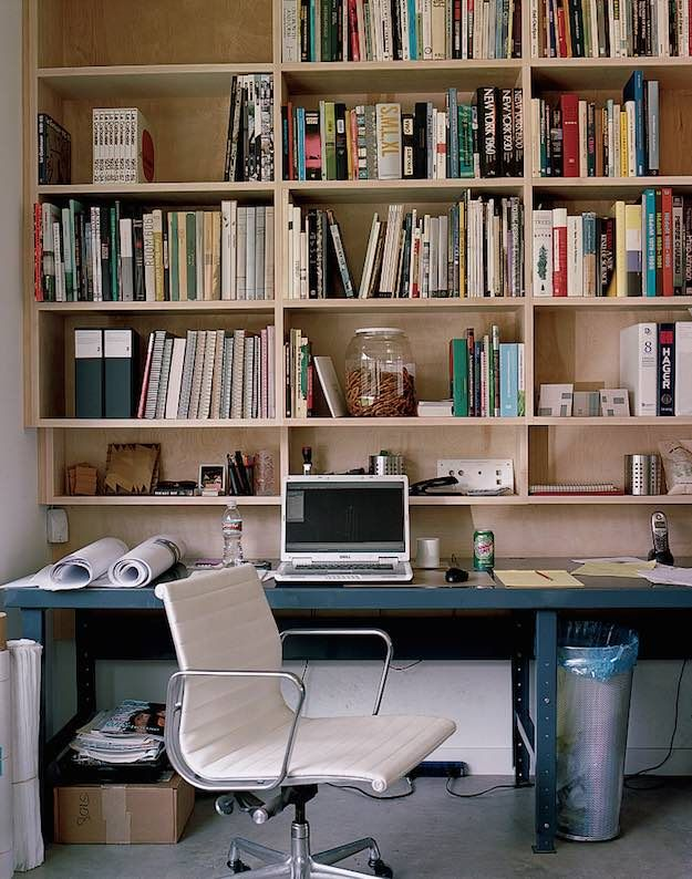 Bookworm productivity boosting study room ideas living for Man cave desk
