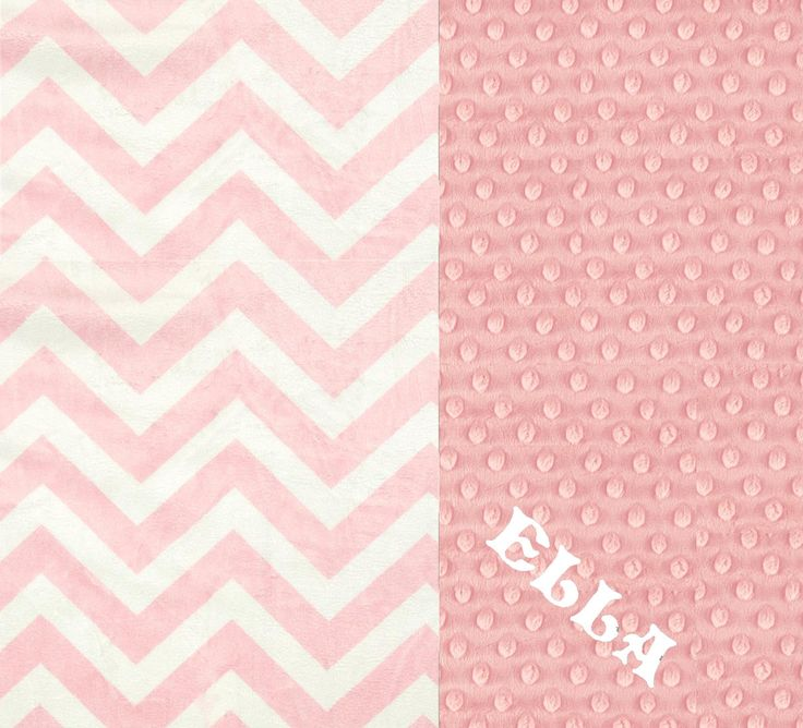 SALE Minky Baby Blanket Girl, Pink Chevron Personalized Baby Blanket - Nursery Decor // Pink Baby Blanket // Name Baby Blanket by Sewingdreamsnotions on Etsy