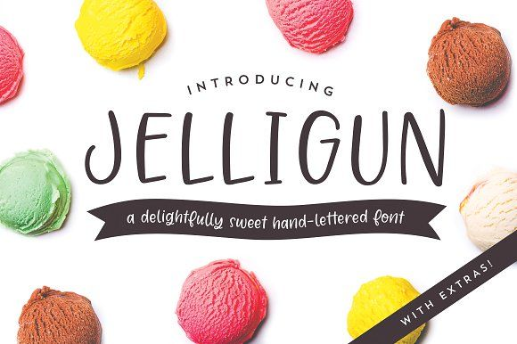 Jelligun | Hand-lettered Font by jelligun on @creativemarket