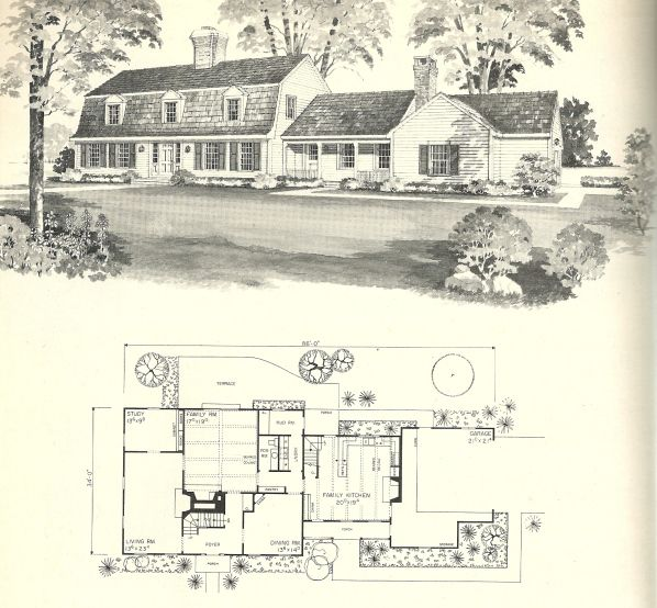 Vintage House Plans 1970s New England Gambrel Roof Homes Vintage House Plans Gambrel Roof Vintage House
