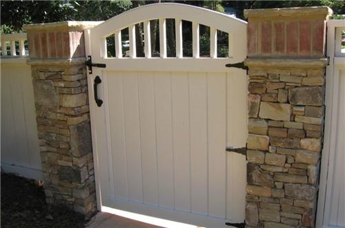 White Gate  Gates and Fencing  Outside Landscape Group, LLC  Alpharetta, GA