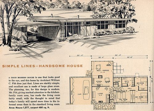456 best images about atomic ranch on pinterest floor for 1940 house plans