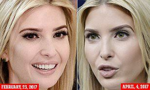 Whether or not Ivanka actually wears colored contacts has yet to be confirmed, but her naturally brown eyes have looked green during numerous high-profile events.
