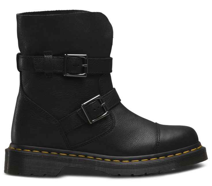 Based on an engineer's boot this open women's rigger boot style has all the hallmarks of a workwear classic. Double straps and nickel buckles come with a choice of fine grained leather or lightly distressed suede and our signature welt and air cushioned sole. Our Fusion range brings together classic style with innovative design notes.